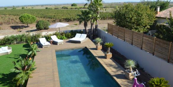 terrasse piscine, céramique
