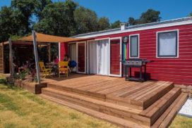 terrasse bois, camping