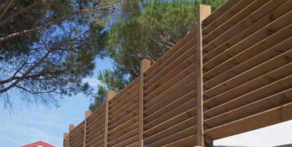 amenagement exterieur camping vtec terrassteel bois solide durable luxe haut de gamme cloison bois